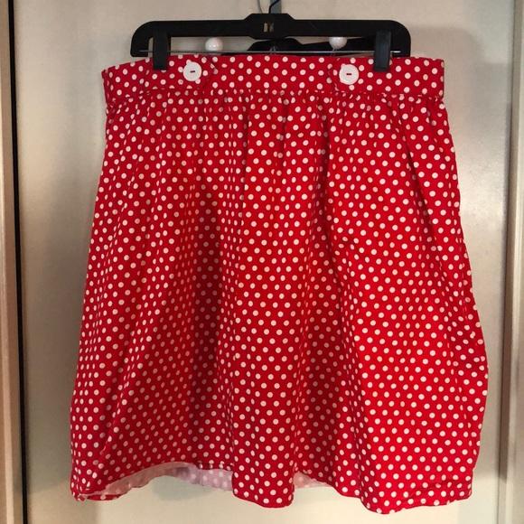 80144c8adc19 Modcloth Skirts | Adorable Disney Bound Minnie Mouse Polka Dot Skirt ...